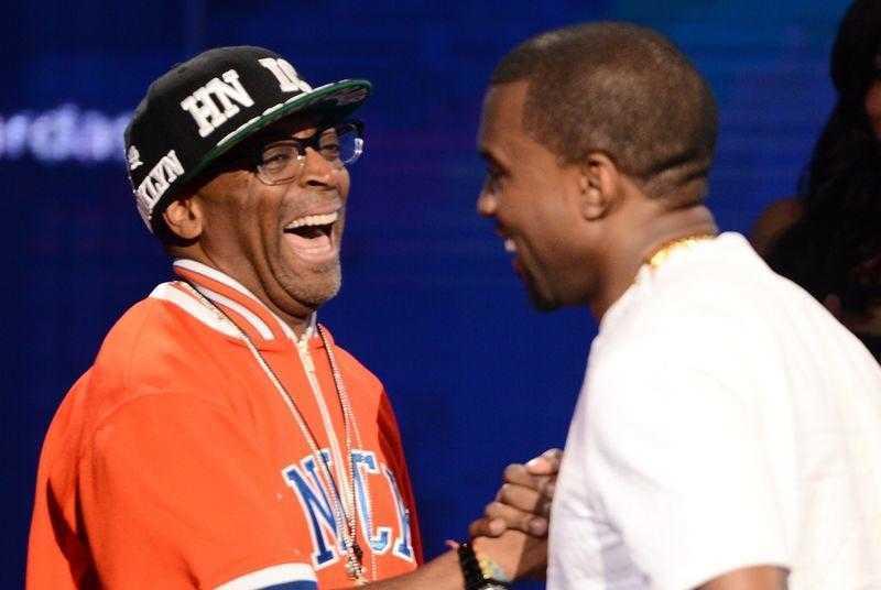 Spike Lee e Kanye West. Fonte: GettyImages