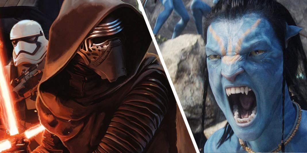 """""""O Despertar da Força"""" e """"Avatar"""": Quatro bilhões em dois filmes. (Créditos: filmtrailer.hu)"""