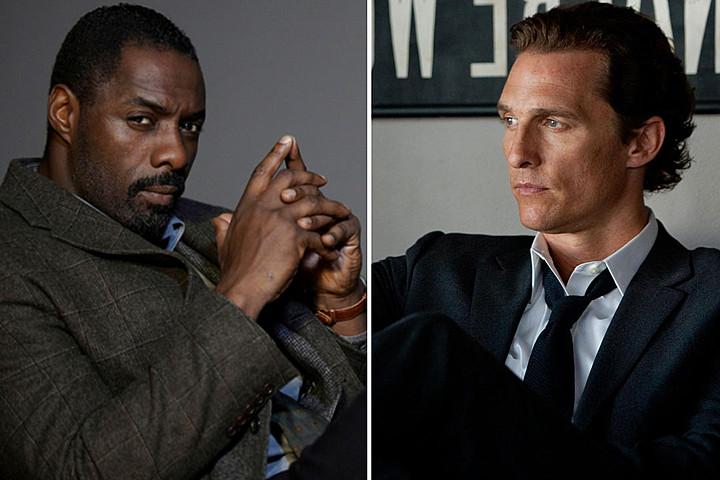 Os atores Idris Elba e Matthew McConaughey. Créditos: Screencrush